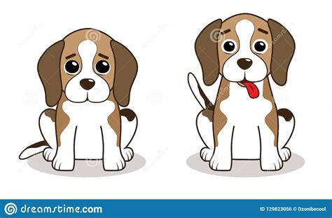 Beagle Stock Vector. Illustration Of Small, Puppy, Drawing