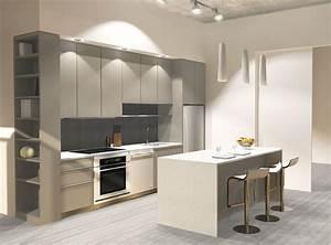 cuisine blanche et taupe pas cher sur cuisinelareduccom With cuisine blanche et taupe