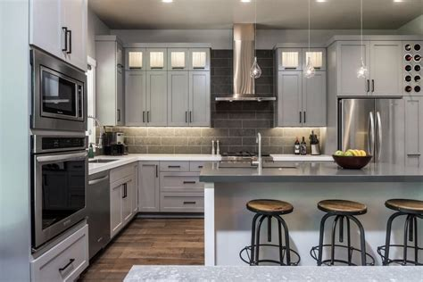 gorgeous gray kitchen  hgtv