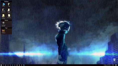 desktophut anime girl  rain  wallpaper youtube