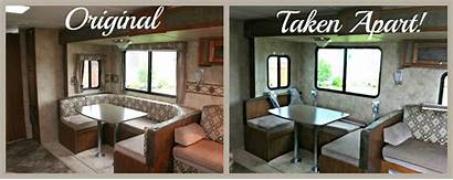 Makeover Rv Trailer Travel Before Curtains Dismantled