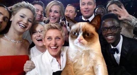 "Grumpy Cat On Twitter ""selfies I Hate Them #oscars"