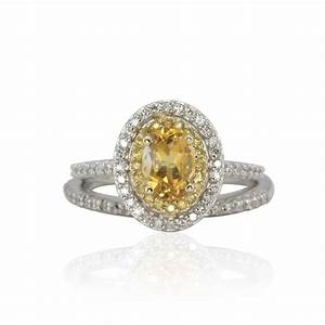 engagement ring citrine yellow sapphire and by With citrine wedding rings