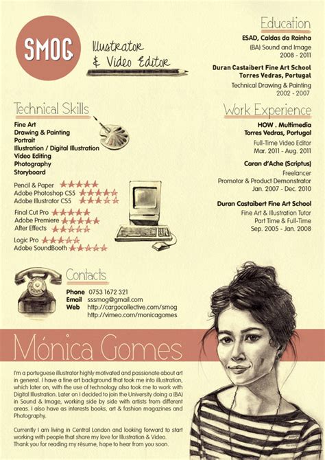 50 awesome resume designs that will bag the job hongkiat