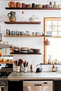 Küche Offene Regale : k chen ideen 30 einrichtungsideen wie sie den kleinen raum gestalten ~ Markanthonyermac.com Haus und Dekorationen