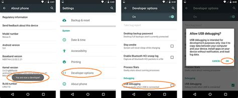 enable usb debugging  android phone