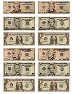 Legal free printable money when teaching about money or to use with classroom management for Play money to print