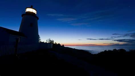 lighthouse  harbor maine usa hd stock video