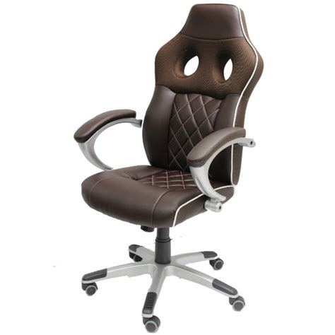 luxury brown office computer chair sports car seat
