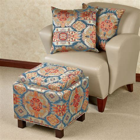 Pillow Ottomans by Pecos Southwest Storage Ottoman And Pillows Set