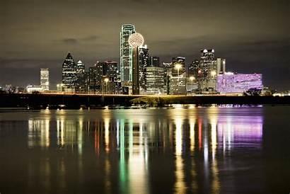 Dallas Skyline Texas Wallpapers Omni Night Houston