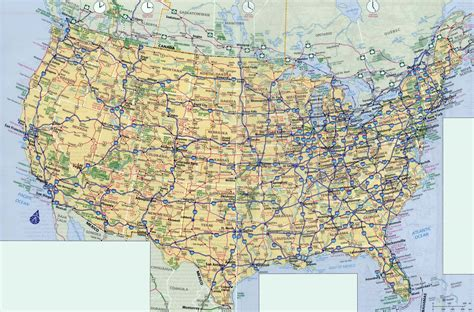 large scale highways map   usa usa maps