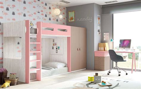 lit à étage avec bureau lit superposé avec bureau chambre personnalisable
