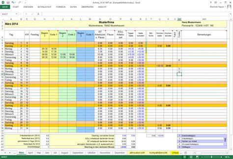 zeiterfassung  excel activity report  chip