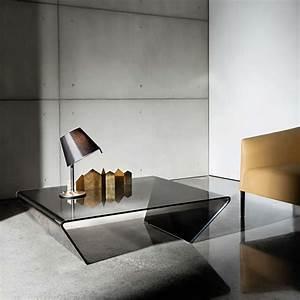 Table Basse Verre Design : table basse design rectangulaire ou carr e en verre rubino sovet 4 pieds tables chaises ~ Teatrodelosmanantiales.com Idées de Décoration