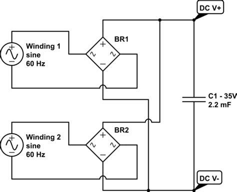 led sum toroidal transformer outputs electrical engineering stack exchange