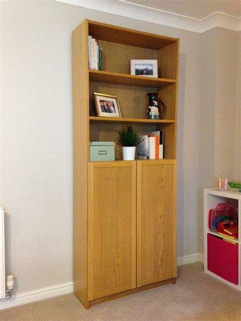 Ikea Bookcase With Doors by Ikea Billy Bookcase With Half Doors Oak In