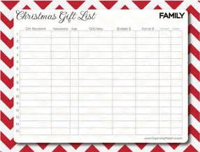 27 christmas gift list templates free printable word pdf jpeg format download free