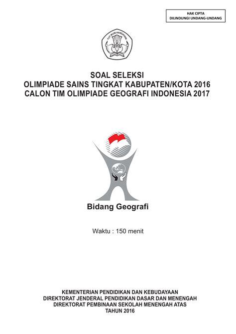 Selamat datang di blog kokowgans. Contoh Soal Olimpiade Geografi Dan Kunci Jawaban ...