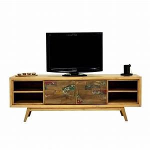 Meuble Tv 180 : meubles tv design acier bois mathi design ~ Teatrodelosmanantiales.com Idées de Décoration
