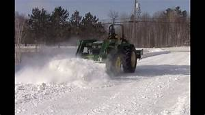 Plowing Snow With John Deere 5055e