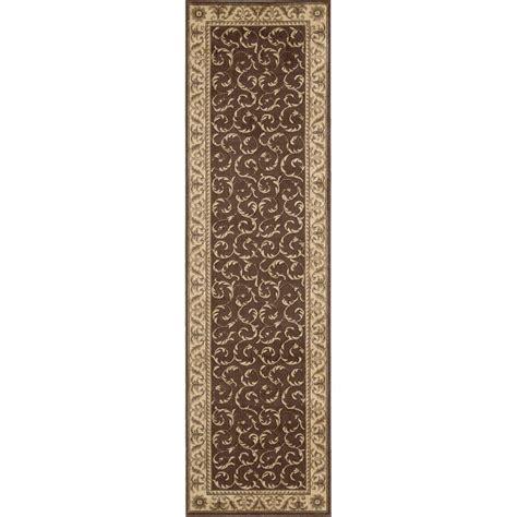 nourison somerset brown 2 ft 3 in x 8 ft rug runner