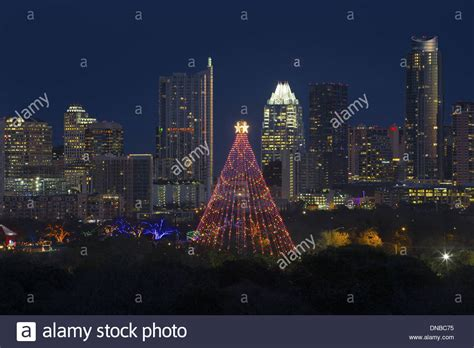 the trail of lights and the zilker park christmas tree are