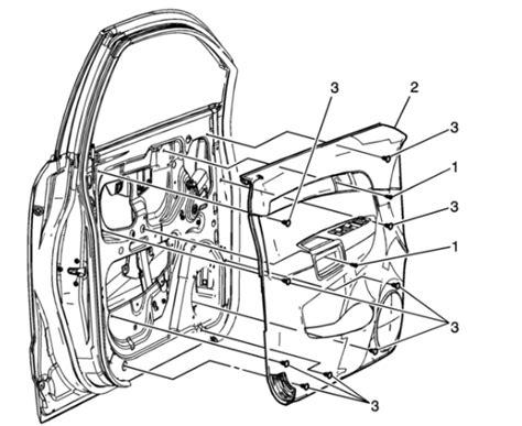 Saturn Door Diagram by 2007 Saturn Vue Door Window Removal How To Replace