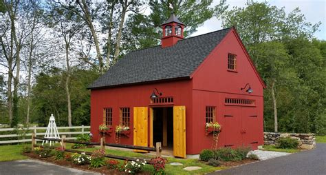 New Barn Garage by New Style Barns Post Beam Garden Sheds
