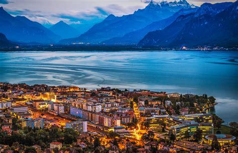 Vevey, Switzerland on Lake Geneva   An amazing viewpoint ...