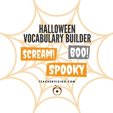 halloween vocabulary building printable   grade