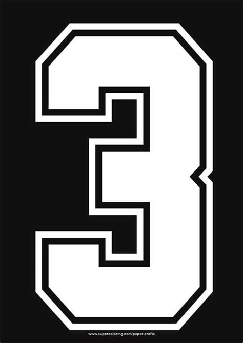 white football shirt number  template  printable