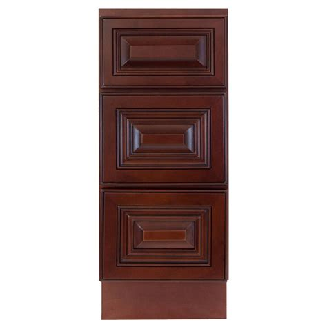bathroom base cabinet lesscare cherryville 12 quot bathroom maple vanity drawer base