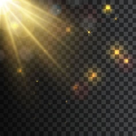 sun ray light effects  yellow light glowing