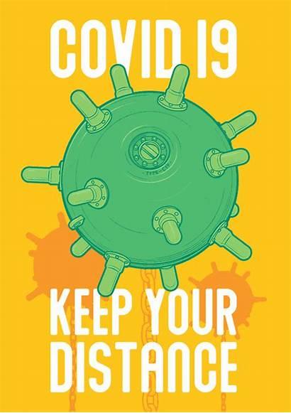 Covid Poster Virus Floor 3rd Graphic Illustration
