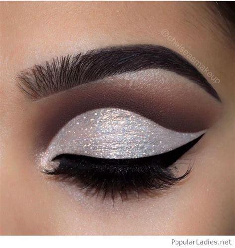 glam white glitter eye makeup dramatic eye makeup natural eye makeup tutorial hooded eye makeup