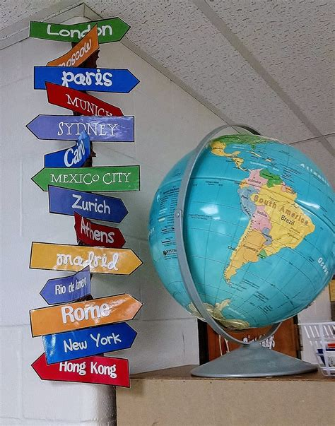 Travel Theme Directions Sign Classroom Themes Travel