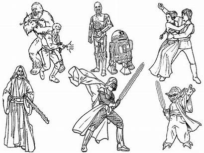 Wars Coloring Star Pages Characters Printable War