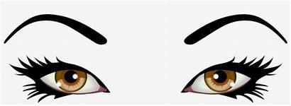 Brown Eyes Female Clip Eye Background Clipart