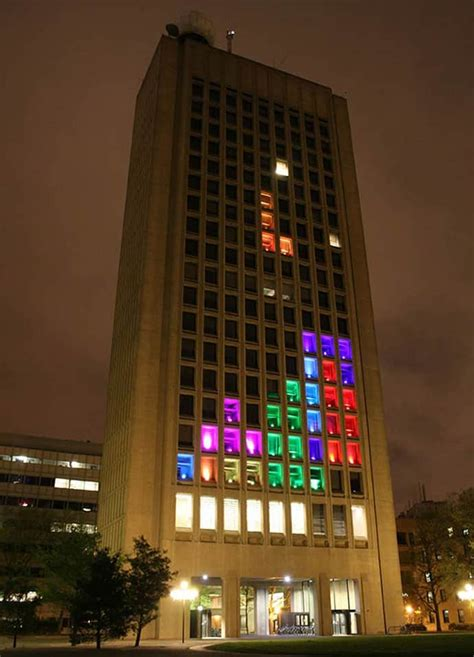 giant tetris game  building