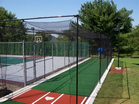 home batting cages backyard batting cages landscape shabby chic with in 1654