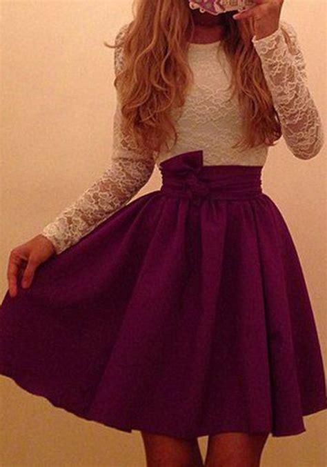 Wine Red Patchwork Hollow-out Lace Fashion Mini Dress - Mini Dresses - Dresses