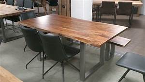 Esstisch Baumkante Ausziehbar : esstisch kerala massivholz akazie 180x100 cm mit baumkante ~ Watch28wear.com Haus und Dekorationen
