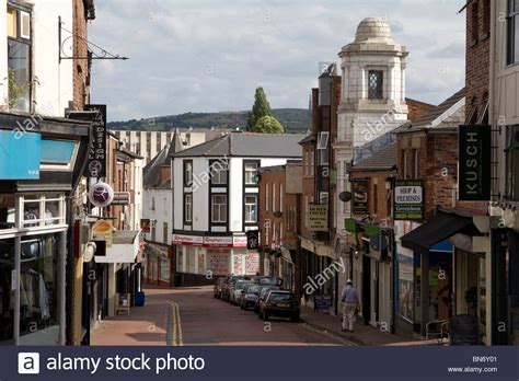 macclesfield town centre high street cheshire england uk ...
