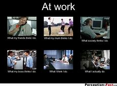 At work What people think I do, what I really do