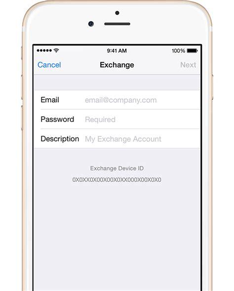 exchange email on iphone set up exchange activesync on your iphone or ipod