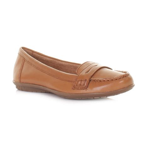 Hush Puppies Ceil Penny by Womens Ladies Hush Puppies Tan Ceil Penny Loafer Shoes