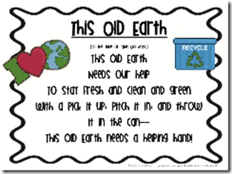 preschool earth day songs quot this earth quot free poem earth day 827
