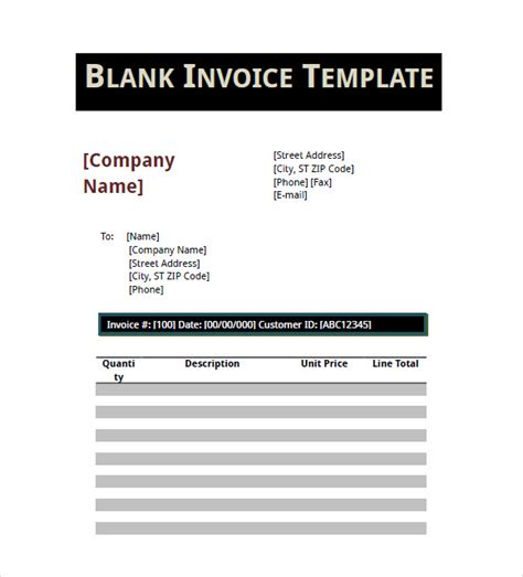 basic invoice templates  samples examples