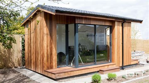 Garden Room With Living Roof by Garden Rooms Cube Pitched Roof Home Office Solutions